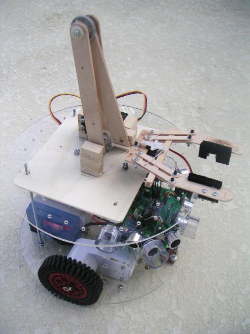 First Is An Early Prototype Of Our RB 9 Chassis RobotBASIC Inch Diameter It Shown Here With A Simple Robot Arm Featured In Article Published